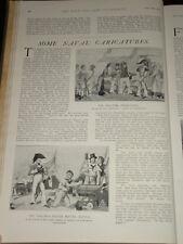 1902 ARTICLE NAVAL CARICATURES PRESS GANG ETC