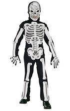 Kids Childs Eva Skeleton Fancy Dress Costume Outfit Bones Skull Halloween