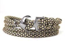 Ancla armband-paracord-verstellbar-wickelarmband- Tan 380 & Negro Diamantes