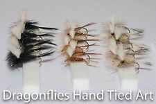 18 Dry Trout fishing Parachute Flies ,Black Gnat,Pheasant Tail ,Grey Duster