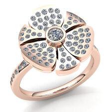 1carat Genuine Round Cut Diamond Ladies Bridal Floral Engagement Ring 10K Gold