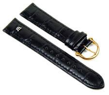 Original Maurice Lacroix XL Ersatzband Uhrenarmband Kalbsleder Schwarz 20836