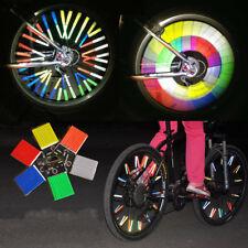 24Pcs Cycling Bike Wheel Spoke Reflector Clips Reflective Warning Strip Tube HOT