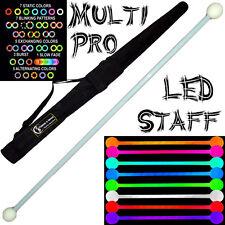 LED Glow Staff MULTI-LIGHT (28 Settings) Multifunction Pro LED Staff + Bag