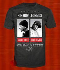 New Biggie Smalls Snoop Dogg Mens Hip Hop Legends Vintage Classic T-Shirt