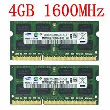 8GB 2x 4GB / 1GB PC3-12800S DDR3 1600MHz 204Pin CL11 Laptop RAM For Samsung LOT