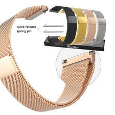 16mm 18mm 20mm 22mm 23mm Mesh Magnetic Milanese Loop Bracelet Watch Band Strap