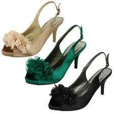 Ladies Anne Michelle Peep Toe Flower Detail Heels