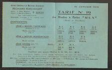 "NANTES (44) USINE de MACHINE AGRICOLE / MOULIN à FARINE ""Richard KIRCHHOFF"" 1931"
