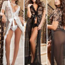 Floral Lingerie Lace Babydoll Teddy Sleepwear Nightwear Valentines Robe M-5XL US