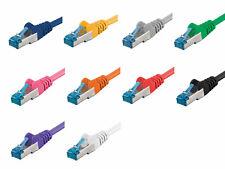 CAT6a Netzwerkkabel Patchkabel Ethernet DSL LAN S/FTP PIMF 500Mhz 0,25m bis 50m