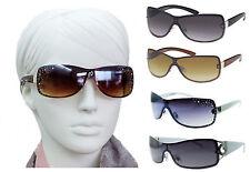 DAMEN-SONNENBRILLE STRASS DESIGN PROMI-LOOK Designer Damenbrille Braun, Smoke