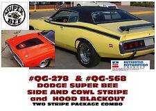 QG-568 & QG-278 1971 DODGE CHARGER - SUPER BEE - SIDE & HOOD STRIPE - DECAL KIT