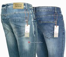 Jeans skinny uomo Deconstructed cotone denim strappato consumato fit super Slim