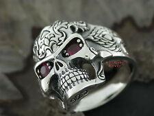 Silberring Gothic TOTENKOPFRING TRIBAL Tattoo Totenkopf Rockabilly Skull Ring