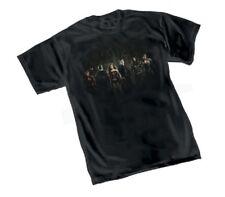 DC JUSTICE LEAGUE MOVIE GROUP SYMBOL Logo - Black Adult Licensed T-Shirt - S-2XL