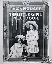 THANHOUSER POSTER, THE LITTLE GIRL NEXT DOOR (L3)