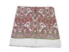 Sciarpa seta uomo bianca disegni cashmere rosso bordeaux verde eleganza e classe