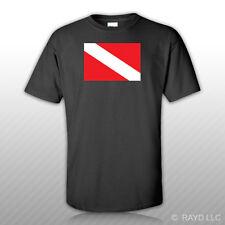 Dive Flag T-Shirt Tee Shirt Free Sticker scuba diving #1