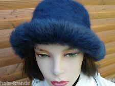 Damen Hut Angora kuschelweich elegant Glockenhut Damenhüte Damenmütze Strick
