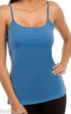 Blue Sleeveless Cami/Tank Plus Top 4 Colors XL/2XL/3XL