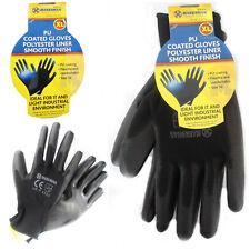 Black Work Gloves PU Palm Coated DIY Light Glove Gardening Flexible Comfortable