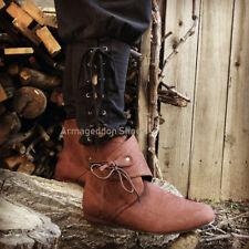 a2b58c5a5e8 Brown Renaissance Faire Peasant Medieval Costume Shoes Boots Mens size 11  12 13