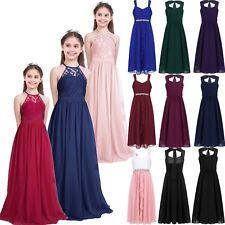 Flower Girl Princess Pageant Wedding Party Formal Birthday Kids Dress Size 4-14