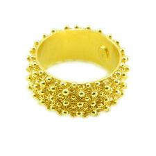 Fede sarda anello Sardegna filigrana fascia 3 file giri argento dorato 925