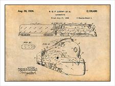 1936 Loewy Locomotive Patent Print Art Drawing Poster 18X24