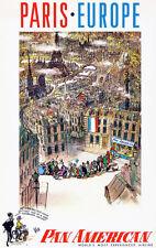 Paris - Europe - Pan American Airlines - 1959 - Travel Poster