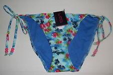 Bnwt La Senza 10 or 12 Tie Side Bikini Briefs in Tropical Palm Print