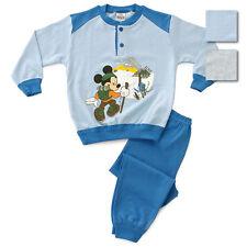 Pigiama invernale per bambino in cotone Topolino Disney M084