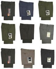 Nuevo Hombre Formal Oficina Trabajo Elegante Pantalones Parte Delantera Lisa