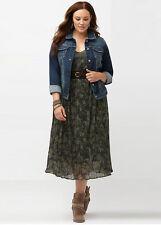 Distressed Blue Wash Soft Stretchy Denim Jean Jacket size 16