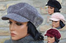 Topmodische Damen Mütze Schirmmütze Ballonmütze Strickmütze EG 55-58 Farbauswahl