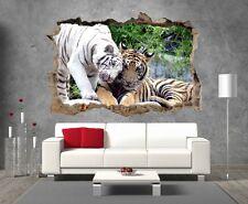 Stickers 3D Trompe l'oeil Tigres réf 23293 23293 Art déco Stickers