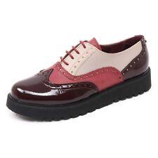 B8592 scarpa inglese donna TRUSSARDI JEANS scarpe bordeaux/tortora shoe woman