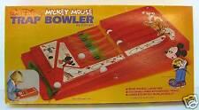 MICKEY MOUSE TRAP BOWLER GAME, DISNEY 1978 MIB