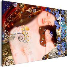 Wandbild xxl Gustav Klimt Mutter und Kind Leinwand Bild Wohnzimmer l-A-0016-b-a