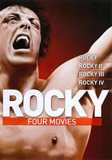 ROCKY / ROCKY II / ROCKY III & ROCKY IV DVD SYLVESTER STALLONE 4 FILM COLLECTION