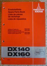 Deutz Fahr Schlepper DX140 + DX160 Ersatzteil-Katalog