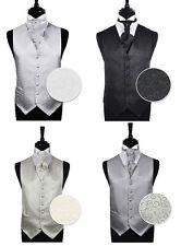 Homme Spirale Soirée Mariage Marié Ascot Gilet & Cravate Taille 86.4cm - 152cm