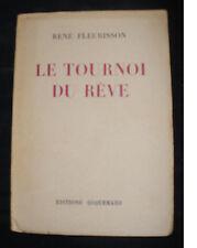 Le Tournoi du Rêve - René Fleurisson 1949 - Poème poésie Coquemard Angoulème