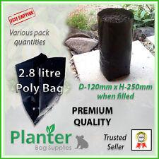 2.8 litre tall Premium Planter Bags varying quantities. Poly Plant bag, Grow bag