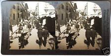 Keystone Stereoview of Calle de Sacarnaca, La Paz, BOLIVIA from 1930's T600 Set