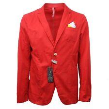C3038 giacca uomo LOFT 1 rosso pois cotone jacket cotton man