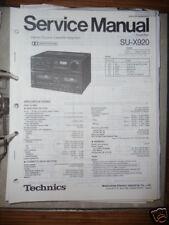 Service Manual technics su-x920 amplifier, original
