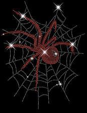 Red Widow Spider Web Rhinestud Rhinestone T-Shirt PLUS SIZE - SUPERSIZE 16918RED