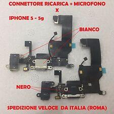 CONNETTORE IPHONE 5 5g DOCK FLEX RICARICA FLAT MICROFONO ANTENNA E JACK AUDIO
